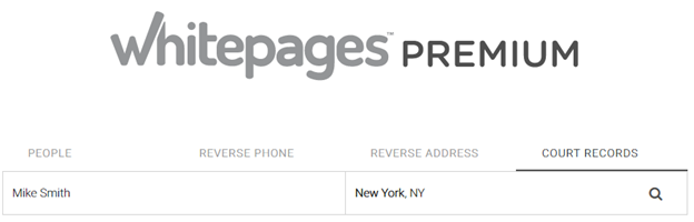 Free whitepages public records search